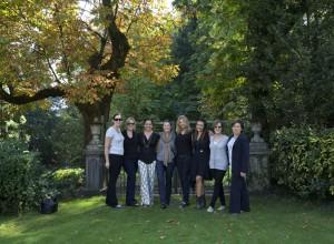 Le 7 ospiti americane assieme a Francesca negri