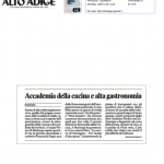 16 feb 2013 Accademia della cucina di montagna Alto Adige