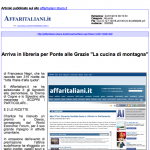 """21 gen 2013 In libreria per Ponte alle Grazie """"La cucina di montagna"""" affaritaliani.it"""