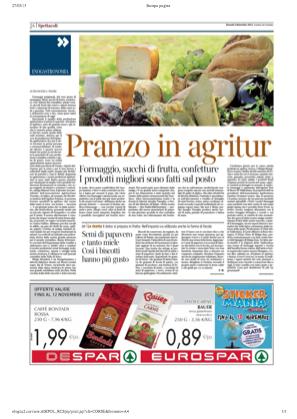 2 novembre 2012 Pranzo in agritur