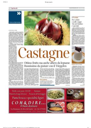 28 sett 2013 Castagne