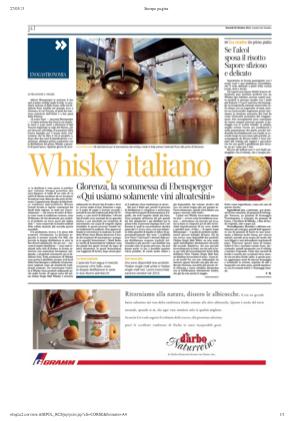 28 ott 2013 Whisky italiano