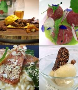 4 grandi chef cucinano con la birra Pilsner Urquell