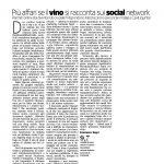 06-06-2016 Corriere del Trentio Più affari se il vino si racconta sui social network
