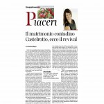 09 gennaio 2015 Corriere del Trentino e dell'Alto Adige Il matrimonio contadino Castelrotto ecco il revival