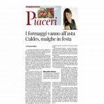 13-08-2016 Corriere Del Trentino I formaggi vanno all'asta Caldes, malghe in festa