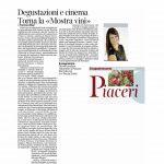 14:05:2016 Corriere del Trentino e Corriere Alto Adige Degustazioni e cinema Torna la Mostra vini
