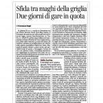 17:01:2015 Corriere del Trentino Sfida tra maghi della griglia