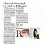 17/09/201 Corriere del Trentino Visite ai masi e assaggi C'è il festival del Puzzone