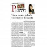 19-03-2016 Corriere del Trentino Vino e musica in Badia Cioccolato re del Garda
