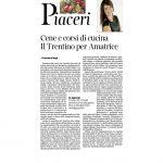 19-11-2016 Corriere del Trentino e dell'Alto Adige Cene e corsi di cucina Il Trentino per Amatrice