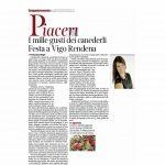 20-08-2016 Corriere del Trentino I mille gusti dei canederli. Festa a Vigo Rendena