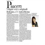 22-10-2016 Corriere del Trentino e dell'Alto Adige Vitigni veri e originali, Bolzano c'è Autochtona