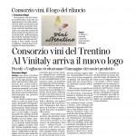24 marzo 2015 Corriere del Trentino Consorzio Vini nel Trentino Al Vinitaly arriva il nuovo logo