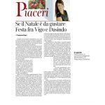 24-12-2016 Corriere del Trentino e dell'Alto Adige Se il Natale è da gustare Festa tra Vigo e Dasindo