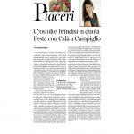 25-02-2017 Corriere del Trentino e dell'Alto Adige Crostoli e brindisi in quota Festa con Calà a Campiglio