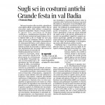 26-03-2016 Corriere del Trentino Sugli sci in costumi antichi