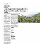27-09-2015 Corriere del Trentino Vigneti, prezzi sempre alle stelle Regione in testa alle classifiche