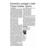 28-05-2016 Corriere del Trentino Enometro, assaggi e visite Torna Cantine Aperte