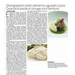 29-05-2016 Corriere del Trentino e dell'Alto Adige Strangolapreti, tortel, salmerino, sguazet e pizza. Quando la tavola si coniuga con il territorio