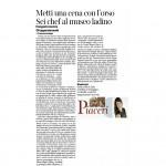 29-08-2015 Corriere del Trentino Metti una cena con l'orso