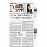 30 05 2015 Corriere del Trentino Cantine e festival del gusto