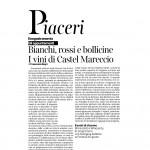 Corriere Trentino 28 02 2015 Piaceri Bianchi rossi e bollicine