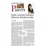 12-12-2015 Corriere del Trentino Piaceri Badia, Gourmet Skisafari