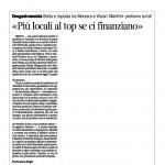 Corriere del Trentino 19 dicembre 2013 «Più locali al top se ci finanziano»