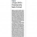 Corriere del Trentino Bollicine Expo 2015 Franciacorta batte Ferrari