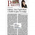 Corriere del Trentino 28 dicembre 2013 Gallerie, vince l'agricoltura A Ruffrè la gita, è in malga