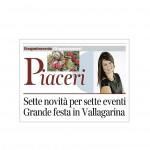 Corriere del Trentino 29 novembre 2014 Selle novità per selle eventi Grande festa in Vallagarina