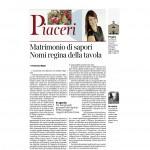 Corriere dell'Alto Adige 28-11-2015 Matrimonio di sapori Nomi regina della tavola