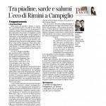 14-03-2015 Corriere del Trentino Tra piadine sarde e salumi. L'eco di Rimini a Campiglio