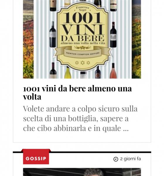 1001 vini su Vanity Fair e Corriere della Sera