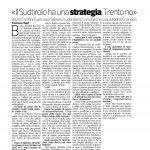 04-07-2016 Corriere del Trentino Il Sudtirolo ha una strategia, Trento no