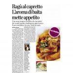 12-08-2016 La Provincia di Como  Ragu al capretto L'aroma di baita mette appetito