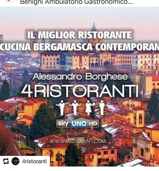 """Alessandro Borghese a Bergamo per 4 Ristoranti. Vincerà il """"mio"""" Ambulatorio Gastronomico?"""